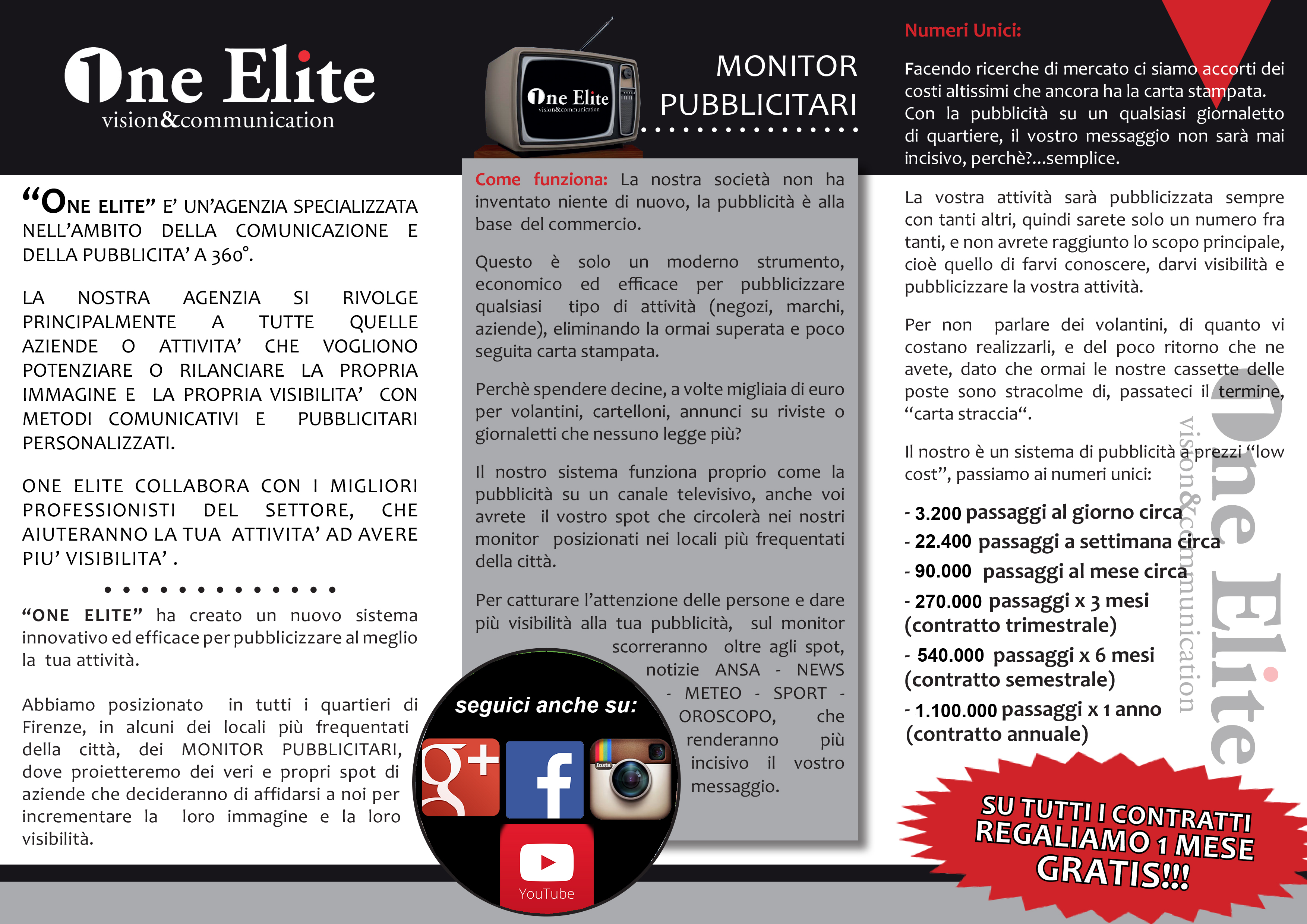 brochure one elite vision and comunication retro
