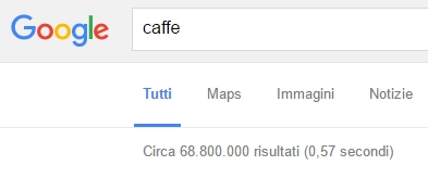 risultati di ricerca per keyword caffè