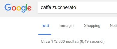 risultati di ricerca per keyword caffè zuccherato