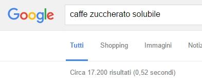risultati di ricerca per keyword caffè zuccherato solubile